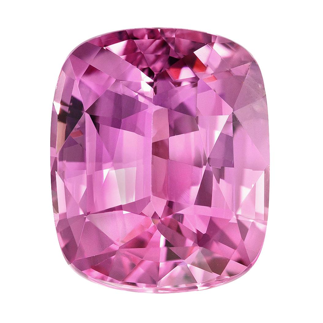 Unheated Pink Sapphire Ring Gem 3.56 Carat Cushion No Heat Loose Gemstone