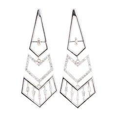 0.92 Carat Diamond 14 Karat White Gold Earrings