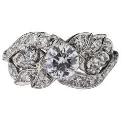 1930s Diamond Gold Ring