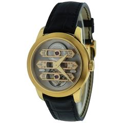 Girard Perregaux Rose Gold Triple Bridge Tourbillon Wristwatch