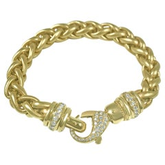 Matthia's & Claire Etrusca 18kt Yellow Gold Bracelet with Diamond Lobster Clasp