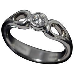 Tiffany & Co. Diamond Platinum Solitaire Ring