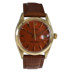Rolex 14Kt. Solid Gold Date Model with Custom Finished Dial from 1970's
