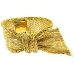 Unique Gold Mesh Bracelet