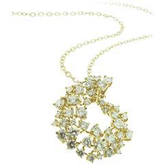 Diamond Gold Swirl Pendant