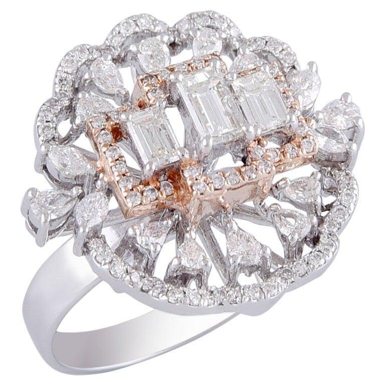 18 Karat Gold White Diamond Cocktail Ring