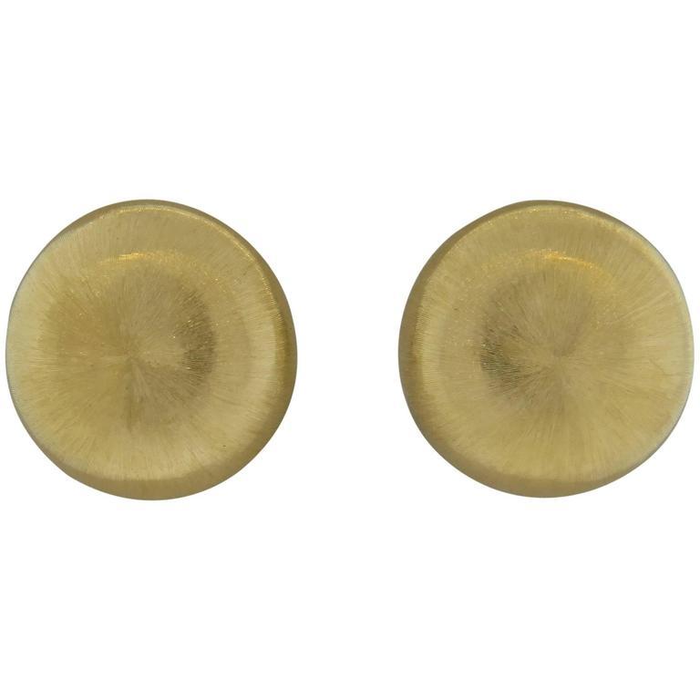 Buccellati Gold Classic Button Earrings