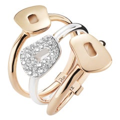 Mattioli Puzzle 18K White & Rose Gold with White Diamonds Ring