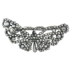 Antique Cut Steel Butterfly Brooch