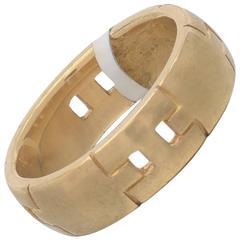 Hermes Gold Hercules Band Ring