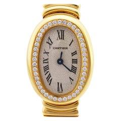 Cartier Diamonds 18 karat Yellow Gold Mini Baignoire Quartz Watch