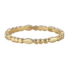14 K Solid Gold Round Dot Ring Chain Link Ring, Modern Minimal Band Ring