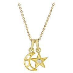 18 Karat Gold Set Polki Diamond Star & Moon 'Small'