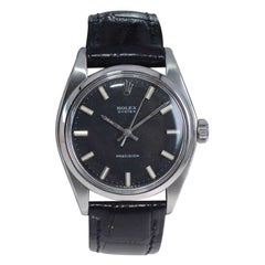 Rolex Stainless Steel Oyster with Original Black Dial From the Early 1970's