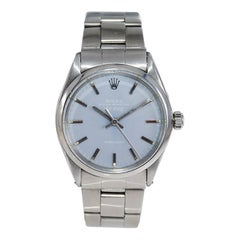 Rolex Stainless Steel Air King with a Custom Lavender Dial Late 1960's