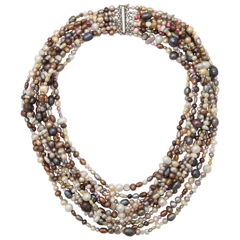 Ten Strand Multi-Color Pearl Necklace