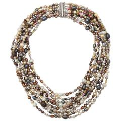 Ten Strand Multi Color Pearl Necklace.