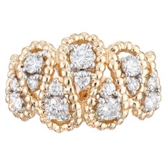 Oscar Heyman .85 Carat Diamond Yellow Gold Platinum Cocktail Ring