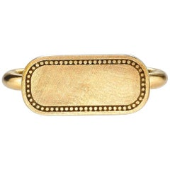 18 Karat Yellow Gold Signet Ring