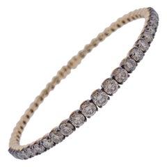 Bucherer Fancy Diamond Gold Bangle Bracelet