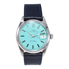 Tudor by Rolex Stainless Steel Watch with a Tiffany Blue Dial