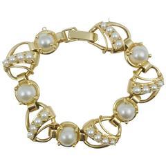 1960s Pearl Gold Bracelet