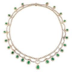 Magnificent Emerald & Diamond Necklace