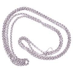C.1860 Sterling Silver Round Belcher Link Chain