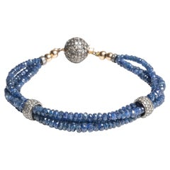 Sapphire and Diamond Bracelet by Deborah Lockhart Phillips
