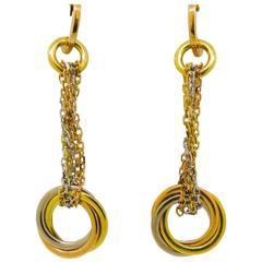 Cartier Trinity Gold Drop Earrings