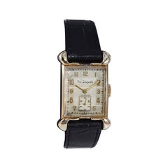 Paul Breguette Art Deco Tank Style Wrist Watch, Circa 1940's