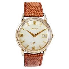 Bulova Gold Filled Art Deco Watch with Original Dial and Calendar Circa 1950's