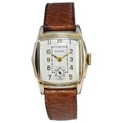 Clinton Art Deco Wristwatch with Original Dial from 1940's