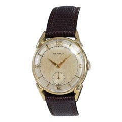 Benrus Yellow Gold Filled Mid Century All Original Watch, 1950's