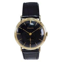 Bulova Solid 14Kt Yellow Gold Mid Century Manual Winding Watch, 1960's