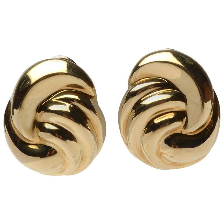Cellini Gold Swirl Earrings
