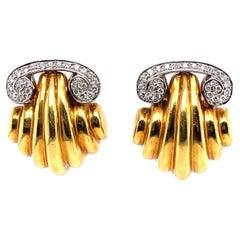 Greek Design 18k Earrings