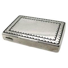 Antique Weiner Werkstatte Silver & Enamel Box or Etui by Karl Mottl