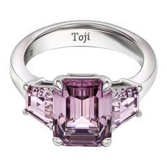 Lavender Spinels Ring, 18k White Gold & Lavender Spinels Ring