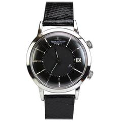 Jaeger LeCoutlre Stainless Steel Memovox Alarm Wristwatch