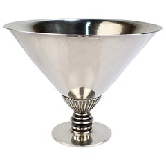 Georg Jensen Mid-Century Sterling Silver Triangular Footed Bowl Model No. 259
