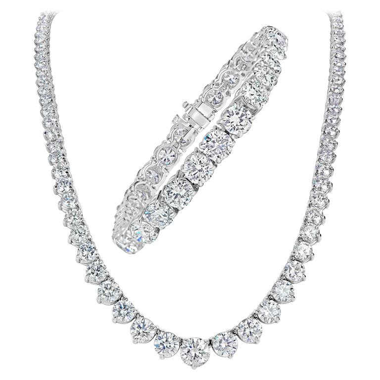 necklace diamond with white gold features jewelry brilliant in this v round carat graduated wg ct excellently nl sku