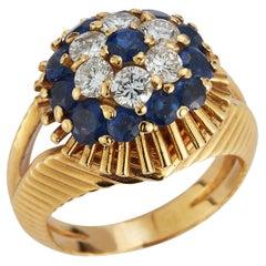 Tiffany & Co. Sapphire & Diamond Cluster Ring