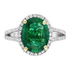 Emerald Ring 1.75 Carat Oval