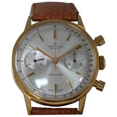 Breitling Yellow Gold Filled Top Time Chronograph Wristwatch