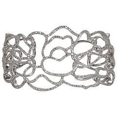 Unique Floral Lace Diamond Cuff
