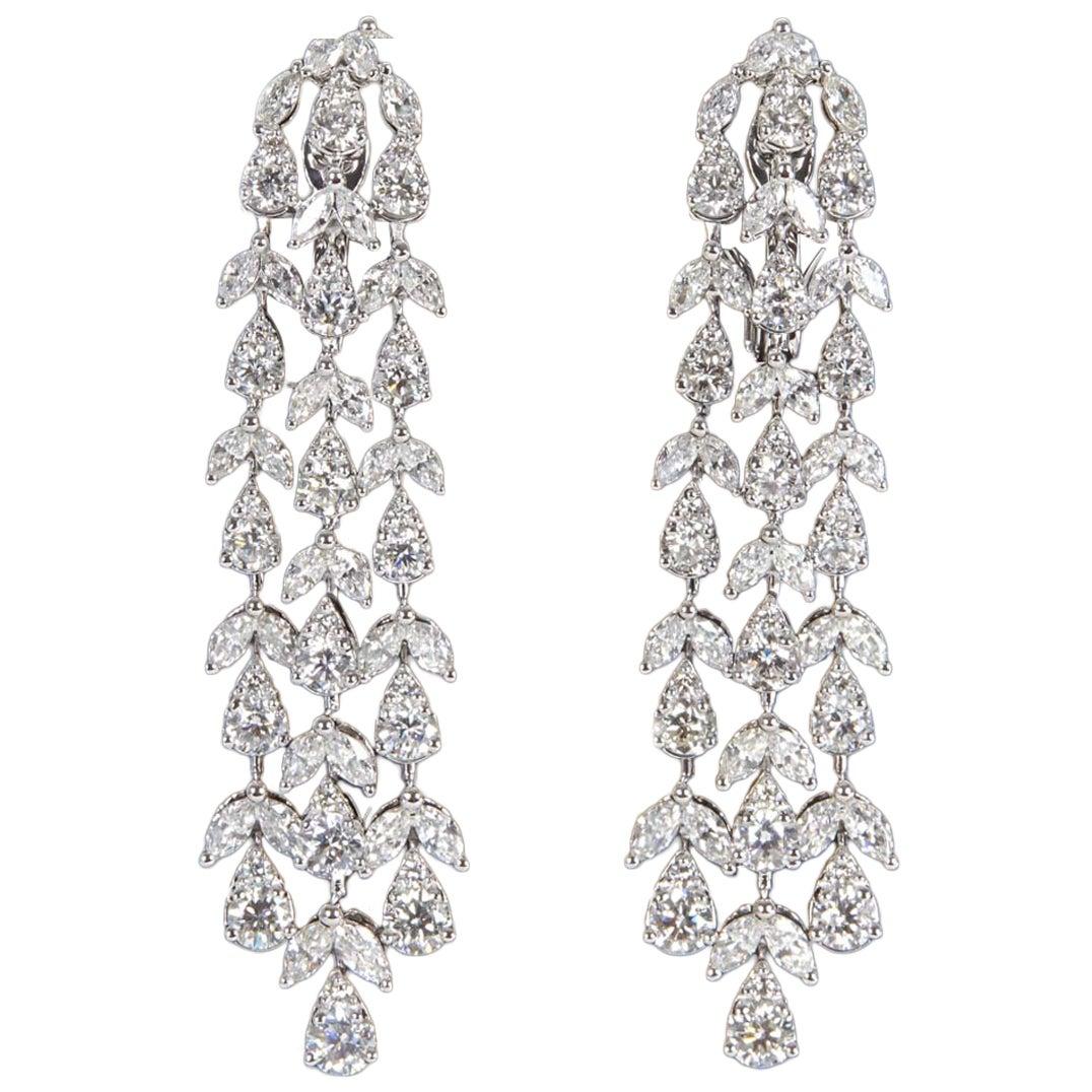 Diamond Dangle Drop Earrings