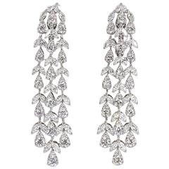 Elegant Diamond Gold Drop Earrings