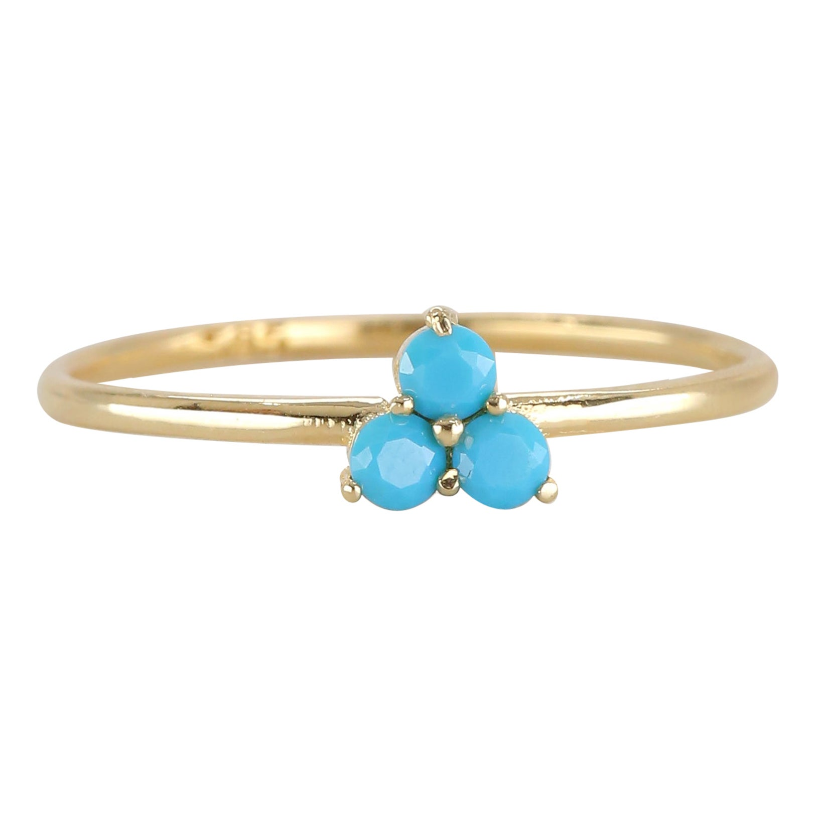 Dainty Turquoise Ring, 14K Dainty Gold Turquoise Ring, Gold Turquoise Ring