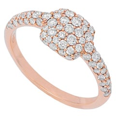 Pavé Diamonds and 18k Rose Gold Signet 'Cluster' Ring